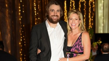 Mike Cannon-Brookes and his wife Annie at the Sydney Children's Hospital's SunSCHine Committee annual fundraiser.
