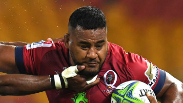 """""""Might as well sack me"""": Taniela Tupou of the Reds."""