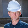 General manager Craig Dodd at the construction site for the Alba Thermal Springs & Spa on the Mornington Peninsula.