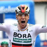 Ewan edged out as Ackermann takes bunch sprint in second Giro stage