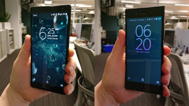 The XZ2 (left), versus the original XZ from 2016.