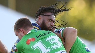 Hair-raising: Junior Paulo was good in the softening-up period on his return to the Eels.