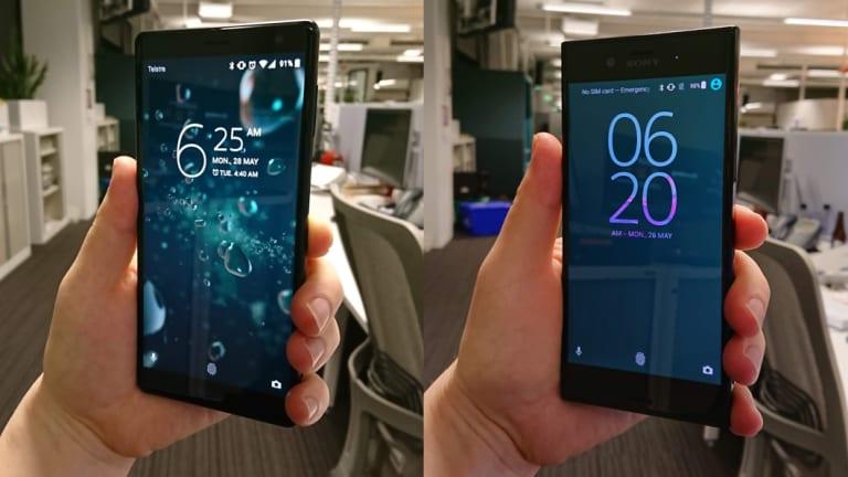 The XZ2 (left), versus the original XZ from 2016.