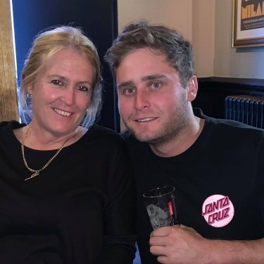 Nick Bertus with his mum, Merryn.
