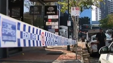 Shots were fired at a Toowong restaurant on Sunday.