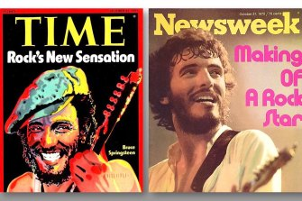 Springsteen featured on two magazine covers in the same week in 1975.