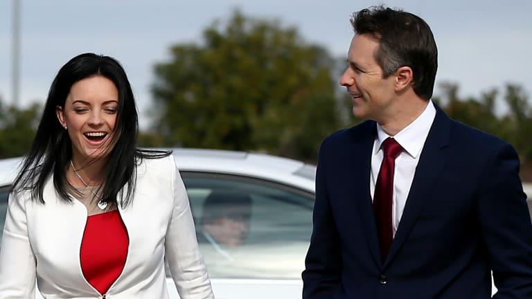 Emma Husar and Labor MP Jason Clare in June 2016.