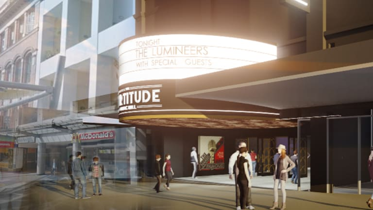The new 3300-seat Fortitude Music Hall in the Brunswick Street Mall.