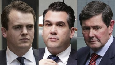 Marcus Bastiaan, Michael Sukkar and Kevin Andrews.