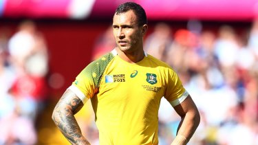Challenger: Quade Cooper started at five-eighth against Uruguay at the 2015 World Cup but the jersey has been Bernard Foley's for much of the past six years.