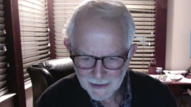 Robert Wilson speaks to reporters on Zoom about his Nobel prize win.