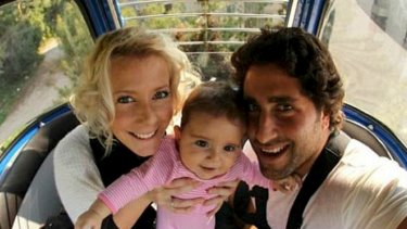Separation: Sally Faulkner and former husband Ali El Amine, before he fled to Lebanon with the couple's children.