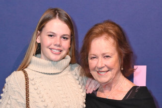 Nicole Kidman's mother Janelle attended Thursday's screening with granddaughter Lucia Hawley (daughter of Antonia Kidman).