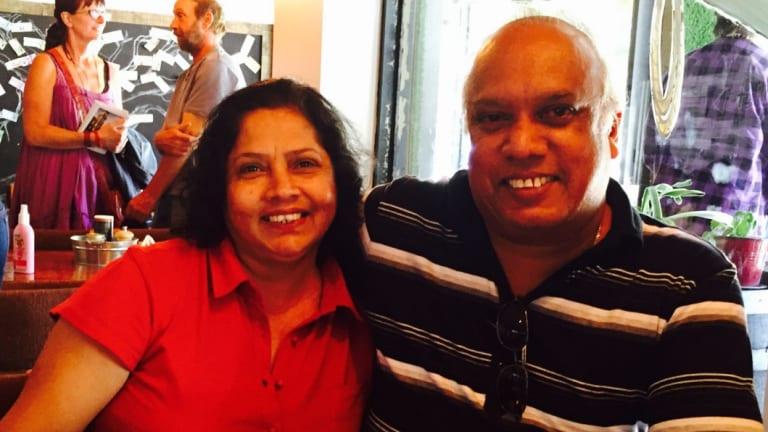 Priyantha (Ranjith) Peiris with his wife Ann.