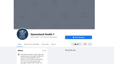 Historical COVID-19 information disappeared from the Queensland Health Facebook page overnight.