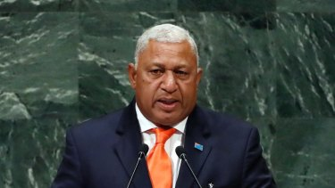 """Fiji's Prime Minister Frank Bainimarama said being forced to give up your home """"isn't some cold and calculated business decision""""."""