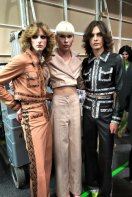 Charlie's Angels: Non binary models Blake Sutherland, Harry Barclay and Lochie Colin.