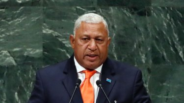 Fiji's Prime Minister Frank Bainimarama called for increased climate finance  through the Green Climate Fund.