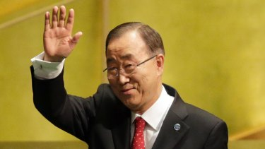 Former United Nations Secretary-General Ban Ki-moon, shortly before his departure from the institution in late 2016.