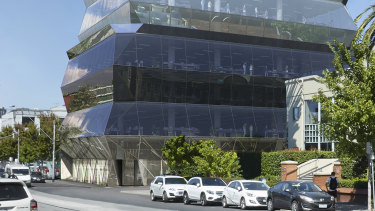A render of the office development at 600 Church Street in Melbourne's Cremorne .
