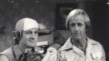 John 'Strop' Cornell and Paul Hogan on The Paul Hogan show.