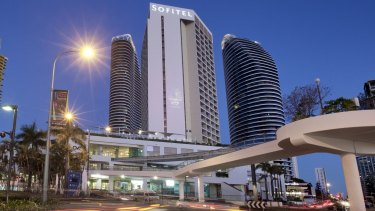The sting ended with the arrest near the Sofitel Hotel in Broadbeach on the Gold Coast.