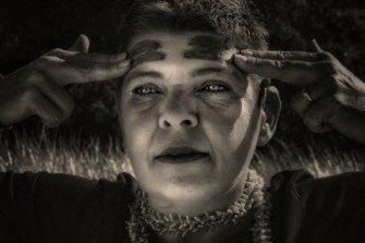 A portrait of Indigenous activist Emma Lee (not the portrait prize finalist).