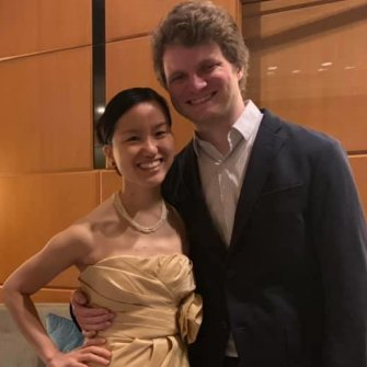Cheng with partner Sean Bell, who sold his invention – a computer vision system designed for shopping  – to Facebook.