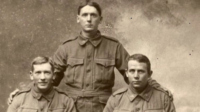 The De Boynton brothers, left to right, William, Francis and Arthur.