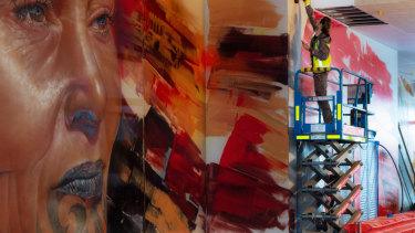 Matt Adnate is a world renowned mural painter.