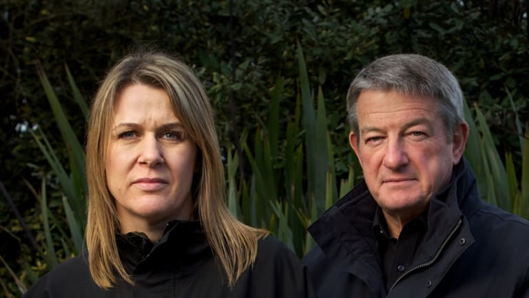 Carley Nicholls and James Hopkins in 2013. Ms Nicholls was in the process of buying the property at the time of the rezoning.