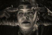 A portrait of indigenous activist Emma Lee (not the portrait prize finalist)