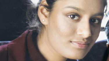 Shamima Begum, one of three east London schoolgirls who traveled to Syria in 2015 to join the Islamic State terrorist group.