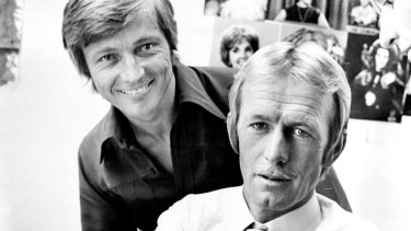 John Cornell and Paul Hogan in 1975.