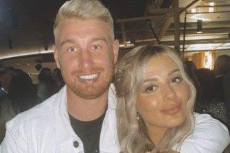 Danny Hodgson and girlfriend Jessica Pollock.