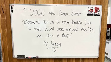 Brett Ratten's message to players during pre-season this year.
