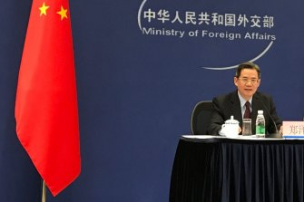 China's ambassador Zheng Zeguang, pictured in Beijing in 2017, has been banned from visiting the British Parliament.