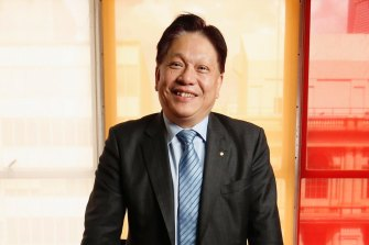 Property developer Jason Yeap at his Collins Street office in Melbourne