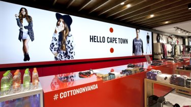 One of Cotton On's megastores in Cape Town.