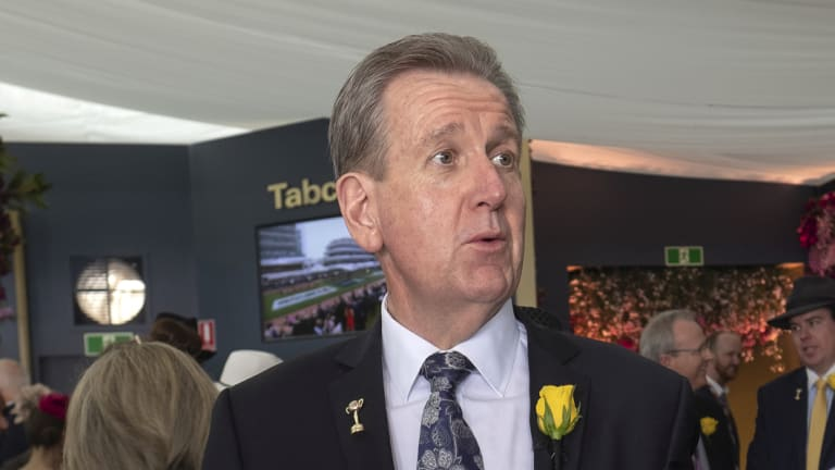 Former NSW politician Barry O'Farrell at the Tabcorp marquee.