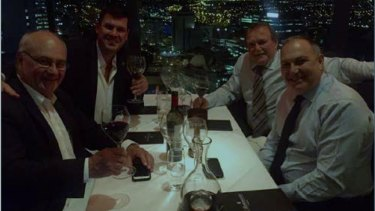 Taken during a dinner at C Restaurant which Mr Edman claimed $1340 for from electoral allowances.