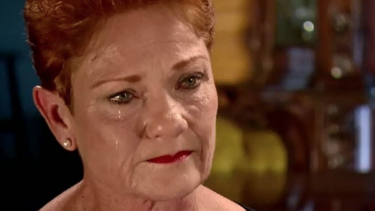 """I cop all this shit and I'm sick of it"": One Nation leader Pauline Hanson on A Current Affair."