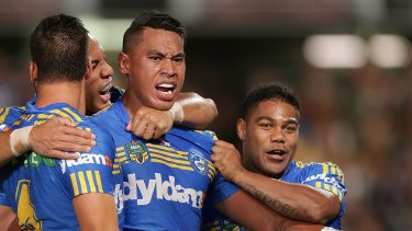 Footsteps: John Folau has nabbed a training spot with the Waratahs and will join his big brother there next season