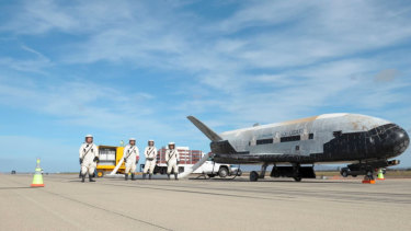 XB-37 on the tarmac.