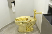 The 18-carat solid gold toilet, worth $1.25 million, was stolen.