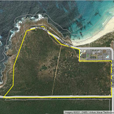 The existing 40 hectare lot at Smiths Beach which could be partially cleared for a new hotel and holiday stay development led by Adrian Fini.