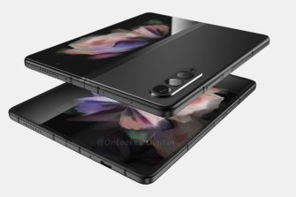 What the Galaxy Fold 3 may look like, based on the information we have. Render by @OnLeaks via digit.in