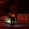 Motorcyclist dead and passenger in hospital after hitting power pole