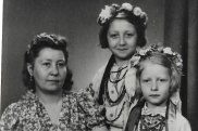 John Hughes' grandmother with his mother and aunt.