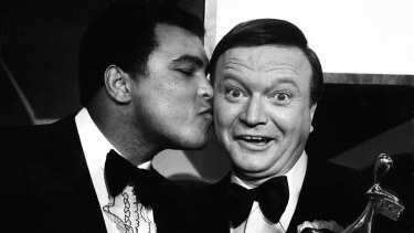 Bert Newton and Muhammad Ali at the 1979 Logie Awards.